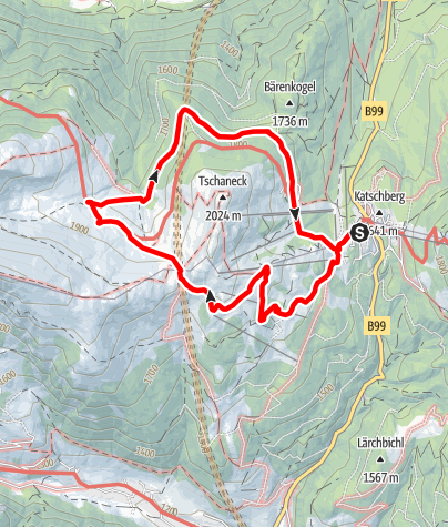 Karte / Große Katschbergrunde über das Gontal
