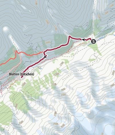 Map / Fafleralp - Blatten