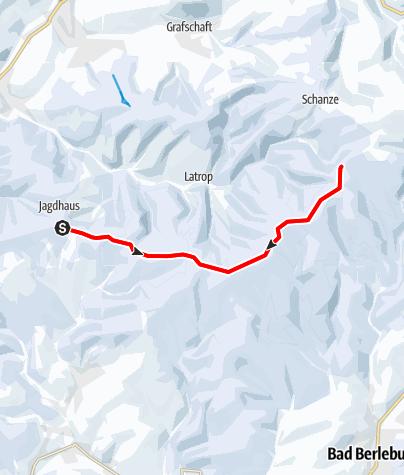 Karte / Rothaar Loipe - Abschnitt Jagdhaus-Kühhude