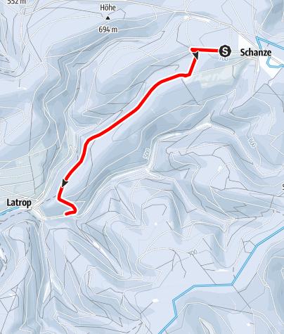 Karte / Escheid-Loipe