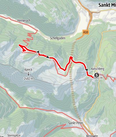 Karte / Wanderung auf die Stöcklalm