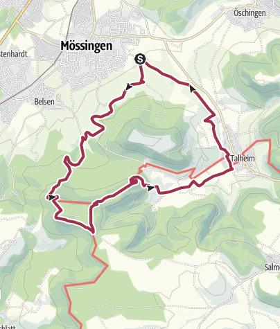 Map / Wandern auf dem Dreifürstensteig bei Mössingen
