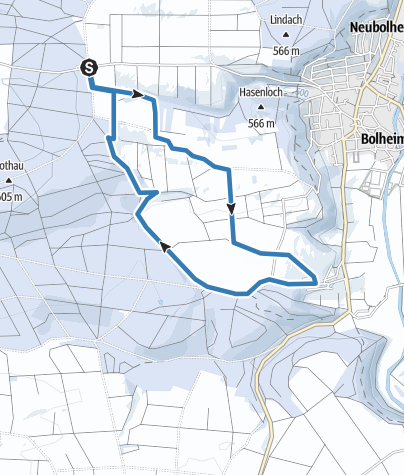 Karte / Bolheimer Wangenhofloipe 7 km