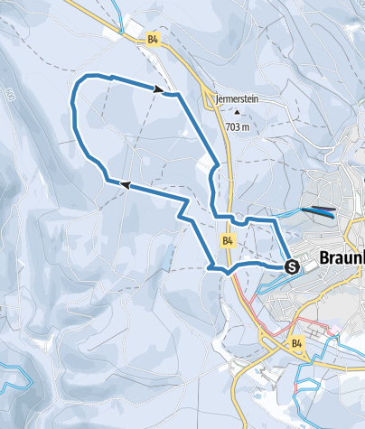 Karte / Braunlager Loipe