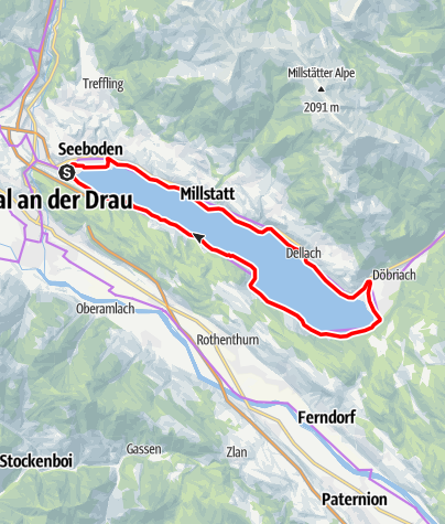 Map / Millstätter See cycle track
