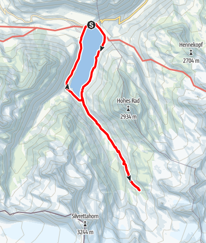 Map / Am Fuße des Piz Buin