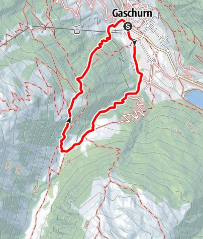 Karte / Garneraschlucht - Fenggatobel