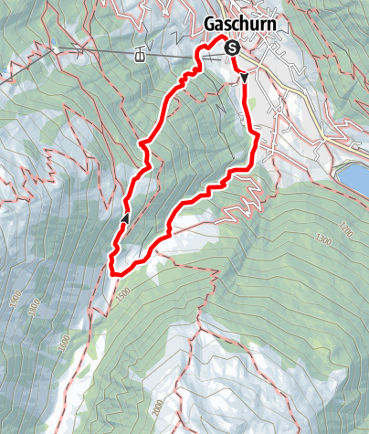 Map / Garneraschlucht - Fenggatobel