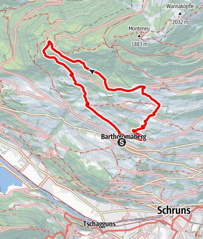 Map / Übers historische Bergwerk zum Rellseck