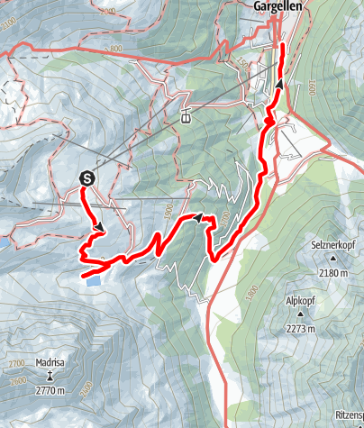 Map / Gandasee - Bergsee am Fuße der Madrisa