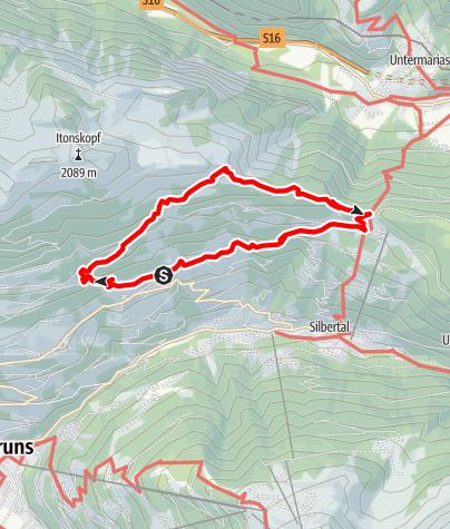 Map / Höhenwanderung zum Kristberg