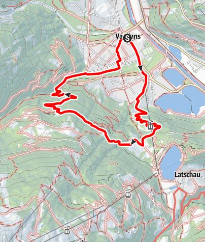 Karte / Rundwanderung Vandans - Landschisott - Vandans
