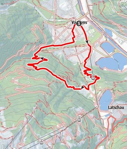 Kaart / Rundwanderung von Vandans übers Landschisott