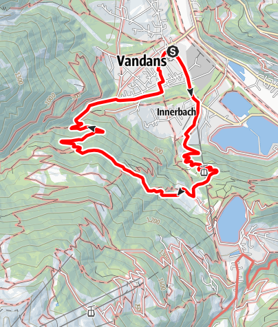Map / Rundwanderung von Vandans übers Landschisott