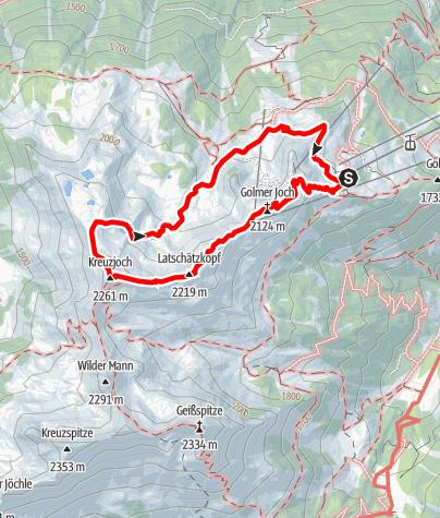 Map / Golm-Rundwanderweg im Rätikon