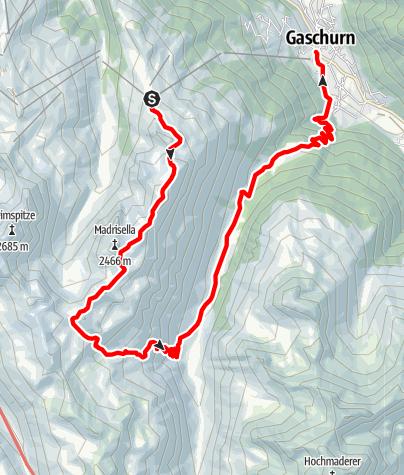 Karte / Der Matschuner Höhenweg