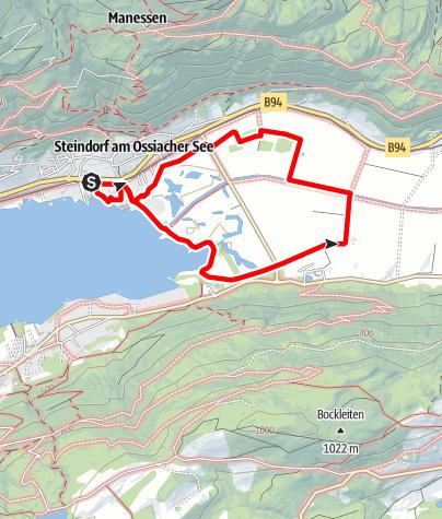 Karte / Wandern am Ossiacher See - Slow Trail durch das artenreiche Bleistätter Moor