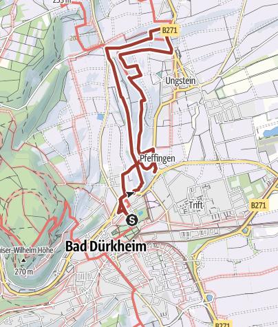 Karte / Bad Dürkheim - Geo-Erlebnispfad
