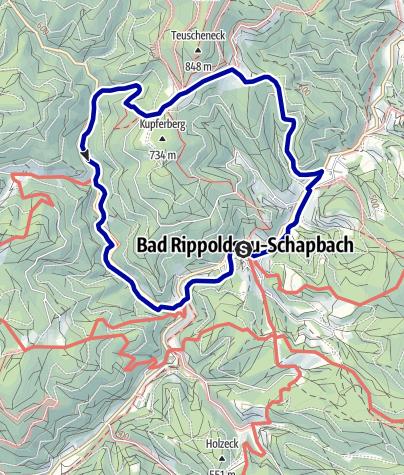 Karte / Bad Rippoldsau/Schapbach - Rund um den Kupferberg