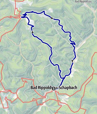Karte / Bad Rippoldsau/Schapbach - Zünftig zum Glaswaldsee
