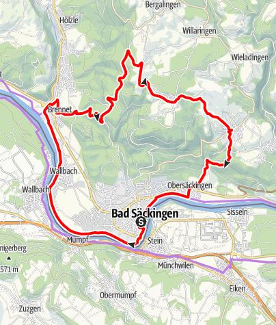Karte / RouteWT 1 - Rhein-Wälder-Tour