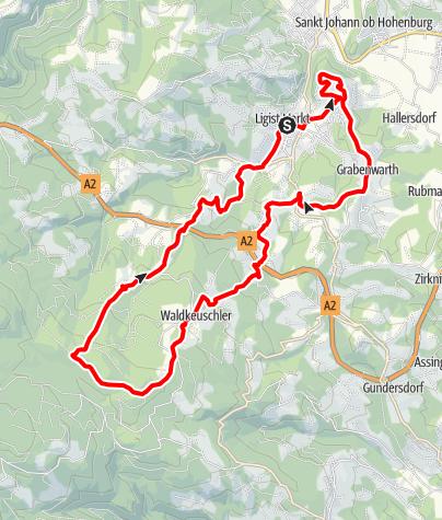 Karte / Ligister Rundweg kurz