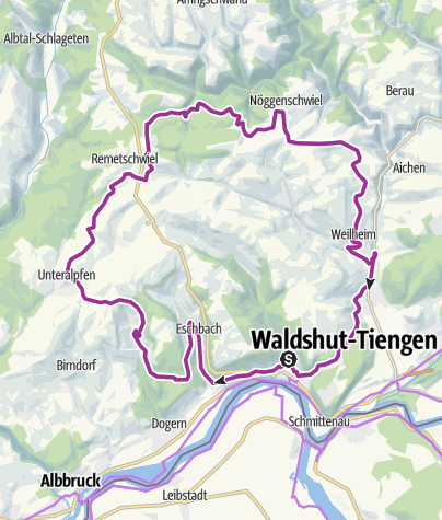Karte / RouteWT 3 - Rosen-Rhein-Route