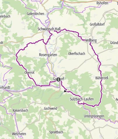 Karte / LimpurgTour: Auf den Spuren der Schenken von Limpurg