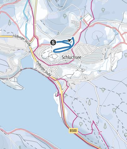 Karte / Rundspur Schluchsee