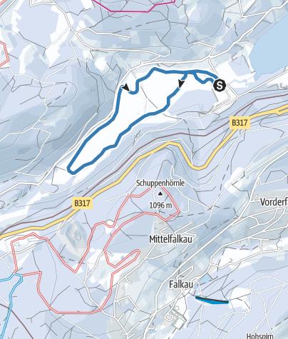 Karte / Seebach Loipe