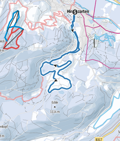 Karte / Oberzartener Loipe