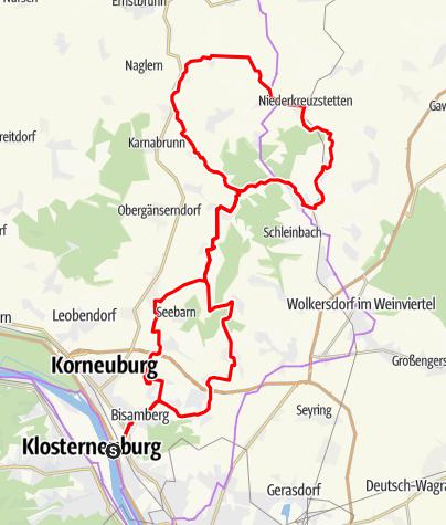 Map / Kreuttal Radroute