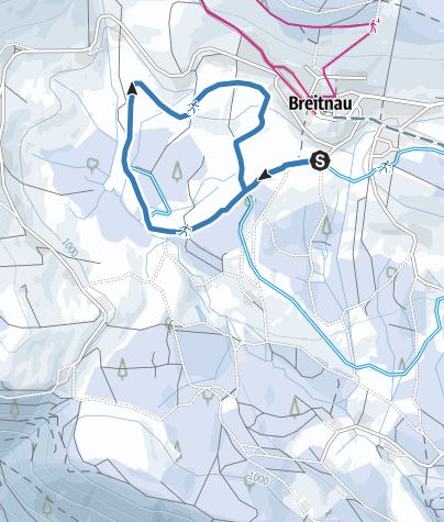 Karte / Hochschachen-Loipe