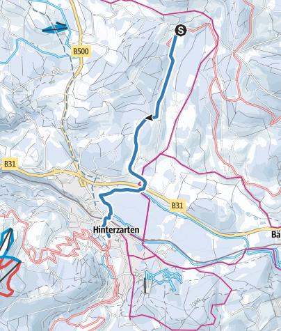 Karte / Fernskiwanderweg Schonach/Belchen - Etappe Breitnau