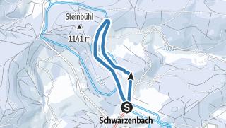 Karte / Panorama Spur Schwärzenbach