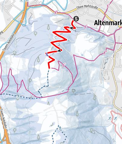 Karte / Winterwanderweg zum Berggasthof Winterbauer
