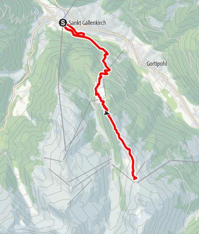 Karte / Montafon Totale Berglauf: Länge 10 km, 1.200 Höhenmeter