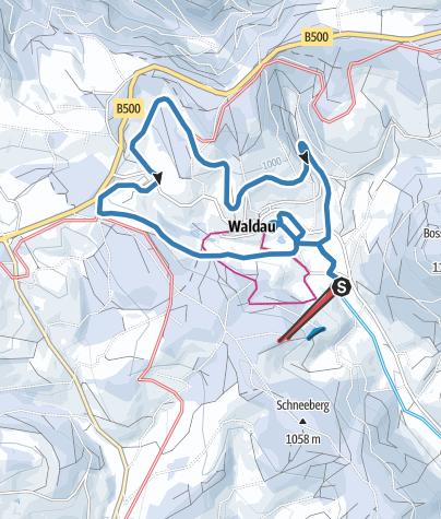 Karte / Rundloipe Waldau