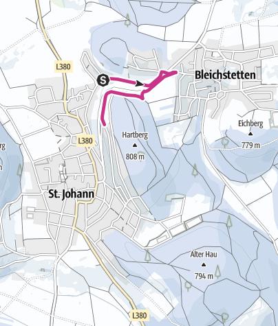 Karte / Winterwandern St. Johann - Von Würtingen nach Bleichstetten und wieder zurück