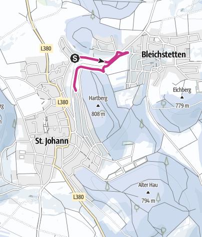 Map / Winter hiking St. Johann - From Würtingen to Bleichstetten and back