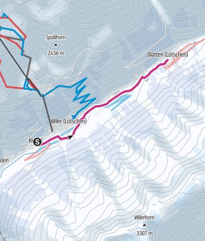 Carte / Randonnée dans la vallée Kippel – Blatten