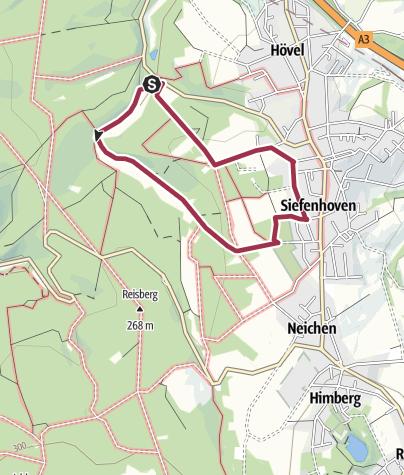 Karte / Durch das Logebachtal bei Aegidienberg