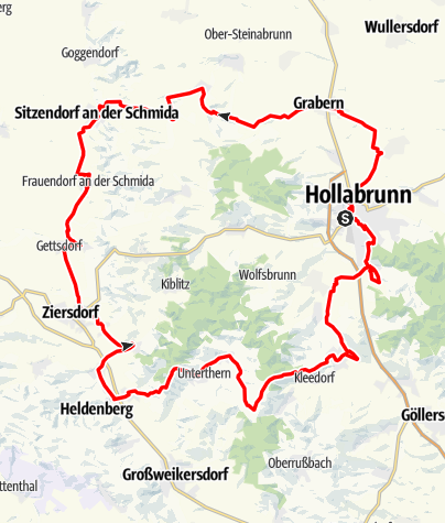 Karte / Weinradweg - Rivaner