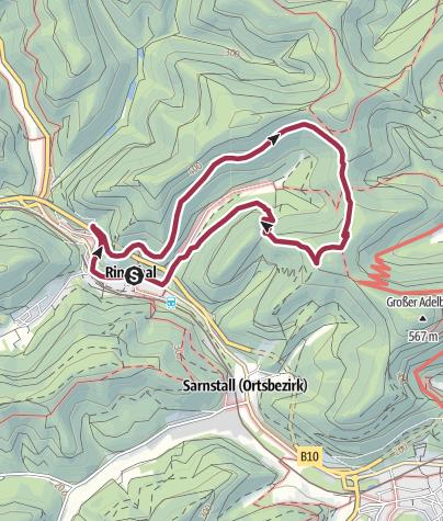 Karte / Rinnthal - Hüttenweg