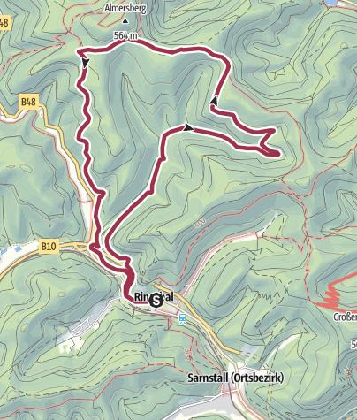 Karte / Rinnthal - Römerweg