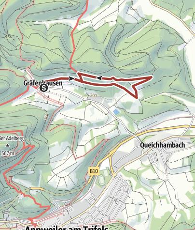 Karte / Annweiler-Gräfenhausen Burgunderweg