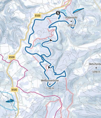 Karte / Thurnerspur Klassikloipe 15,6 km (Abkürzung: 8 km, 10 km und 12 km)