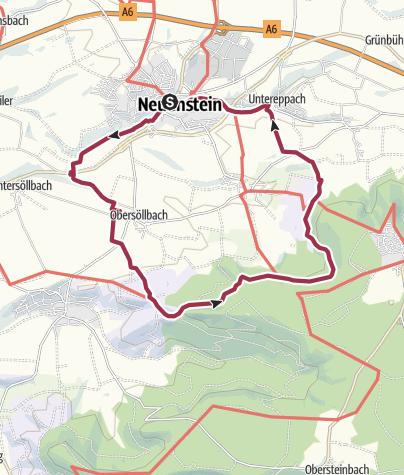 Karte / Weinberge im Herzen Hohenlohes