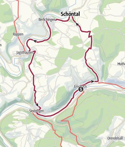 Karte / Zwischen zwei Flüssen