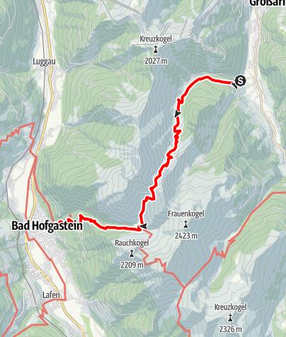 Karte / Großarl - Schmalzscharte - Gasteinertal